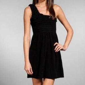 Juicy Couture Terry One Shoulder Black Mini Dress